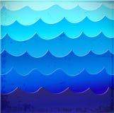 Fond de mer avec les vagues bleues Photo stock