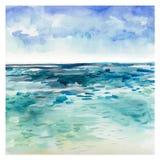 Fond de mer d'aquarelle illustration libre de droits