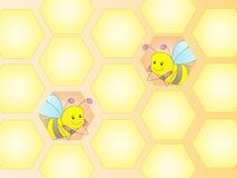Fond de miel Image libre de droits