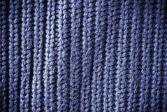 Fond de militaire de carrière bleu ou texture matériel barré et tissé Photo stock