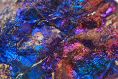 Fond de minerai de chalcopyrite Photographie stock