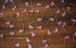 Fond de mini drapeaux am?ricains des Etats-Unis photo stock