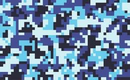 Fond de modèle de camouflage de pixel de Digital, illustration sans couture de vecteur Photos libres de droits