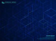 Fond de modèle de cube en énergie de place de technologie de résumé Vous pouvez employer pour la conception futuriste de l'illust illustration de vecteur