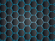Fond de modèle d'hexagone illustration stock