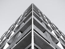 Fond de modèle de bâtiment de détail d'architecture images libres de droits