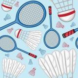 Fond de modèle de badminton - sport Photographie stock