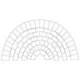 Fond de modèle de cercle de brique de schéma | conception d'architecture de texture Images stock