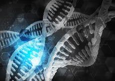 Fond de molécules d'ADN Photographie stock libre de droits