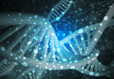 Fond de molécules d'ADN Image libre de droits
