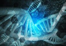 Fond de molécules d'ADN Photos libres de droits