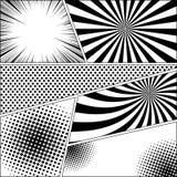 Fond de monochrome de bande dessinée Images stock