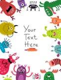Fond de monstres pour le texte illustration libre de droits