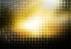 Fond de mosaïque arrondi par spirale blanche jaune noire Image libre de droits