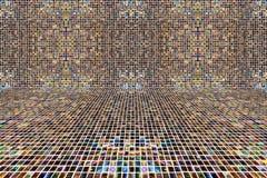 Fond de mosaïque de pixel de coolr de mélange Photo libre de droits