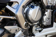 Fond de moteur de moto Photographie stock libre de droits