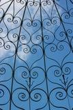 Fond de motif de coeur de fer images stock