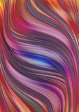 Fond de Motley de miroiter les rayures onduleuses Photos libres de droits