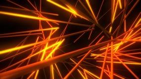 Fond de mouvement d'abrégé sur boucle du vortex VJ de tubes au néon d'or banque de vidéos