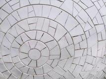 Fond de mur carrelé par modèle circulaire blanc photographie stock libre de droits
