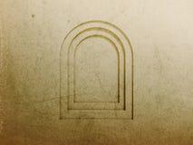 Fond de mur d'hublot d'arc illustration de vecteur