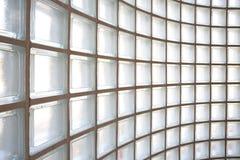 Fond de mur de bloc en verre Photographie stock