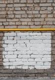 Fond de mur de briques avec l'endroit de cadre et d'inscription Photographie stock