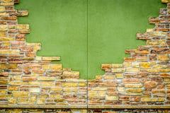 Fond de mur de briques criqué de vintage Image libre de droits