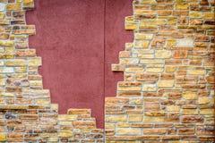 Fond de mur de briques criqué de vintage Photographie stock libre de droits