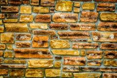 Fond de mur de briques de cru Photos stock