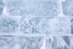 Fond de mur de briques de glace Photos libres de droits