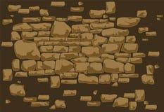 Fond de mur en pierre Ensemble tiré par la main de disposition pour les murs en pierre illustration libre de droits