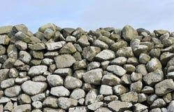 Fond de mur de pierres sèches de Gallois photographie stock libre de droits
