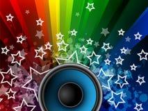 Fond de musique avec des étoiles Images libres de droits