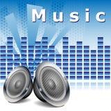 Fond de musique avec des haut-parleurs illustration libre de droits