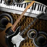 Woofers et piano de guitares illustration libre de droits
