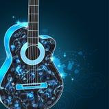 Fond de musique avec la guitare Image libre de droits