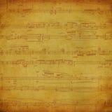 Fond de musique de cru Photos libres de droits