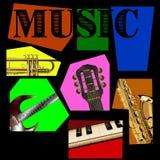 Fond de musique des segments Images libres de droits