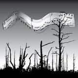 Fond de musique et de nature Photographie stock libre de droits
