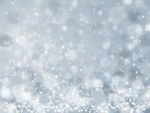 Fond de neige de Noël Images libres de droits