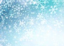 Fond de neige de vacances d'hiver Images libres de droits