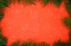 Fond de neige de Noël Photos libres de droits
