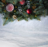 Fond de neige. Noël Photo libre de droits