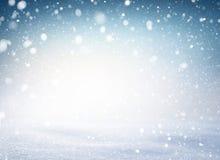 Fond de neige de snowtorm de flocons de neige d'hiver image stock