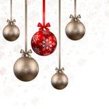 Fond de Noël avec des babioles Photo stock