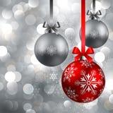 Fond de Noël avec des babioles Photo libre de droits