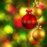 Fond de Noël avec des babioles Images stock