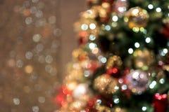 Fond de Noël avec des billes de Noël Photographie stock libre de droits