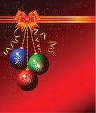 Fond de Noël avec des billes Images libres de droits